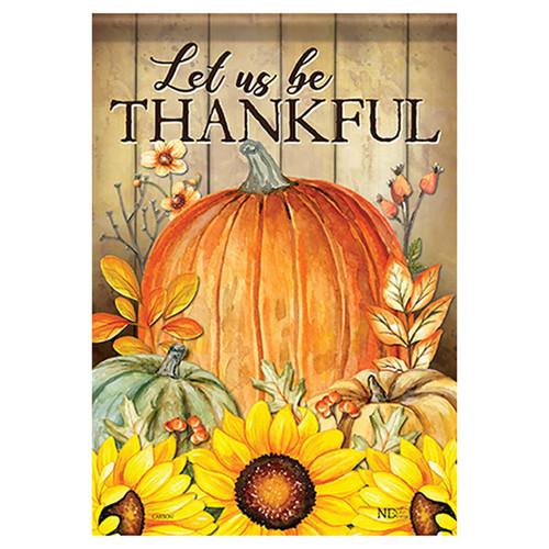 Carson Thanksgiving Banner Flag - Pumpkin & Sunflower Trio