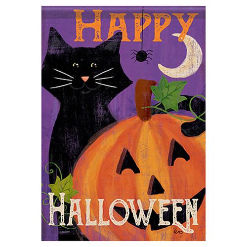 Carson Halloween Banner Flag - Festive Felines