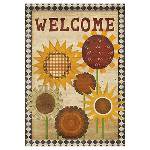 Carson Fall Banner Flag - Primitive Sunny Welcome