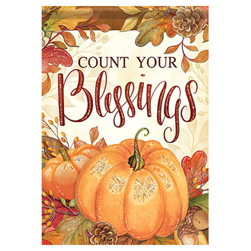 Thanksgiving Banner Flag - Count Your Blessings