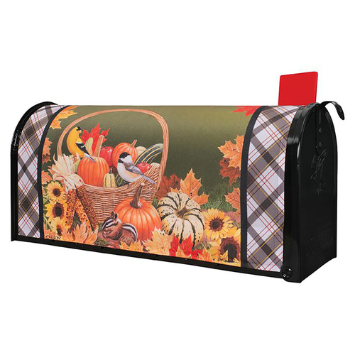 Fall Mailbox Cover - Basket of Autumn