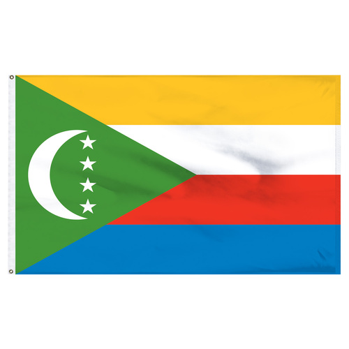 Comoros 2' x 3' Nylon Flag