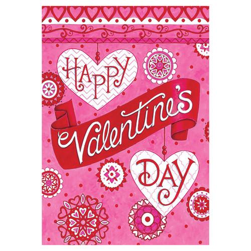 Valentine's Day Garden Flag - Valentine's Greeting