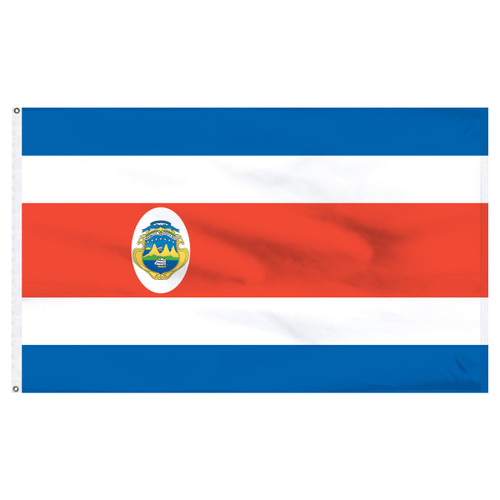 Costa Rica 2' x 3' Nylon Flag With Seal