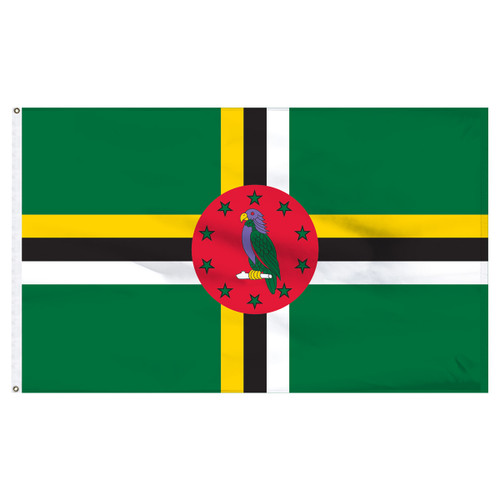 Dominica 2' x 3' Nylon Flag