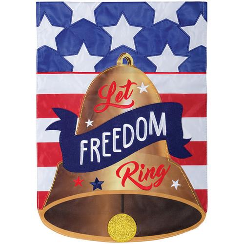 Carson Patriotic Applique Garden Flag - Freedom Bell