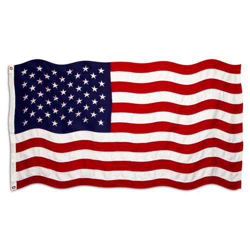 6ft x 10ft Standard Sewn Polyester American Flag - US Made