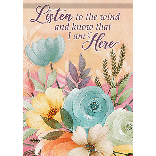 Bereavement Garden Flag - Listen to the Wind