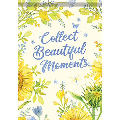 Inspirational Garden Flag - Collect Beautiful Moments