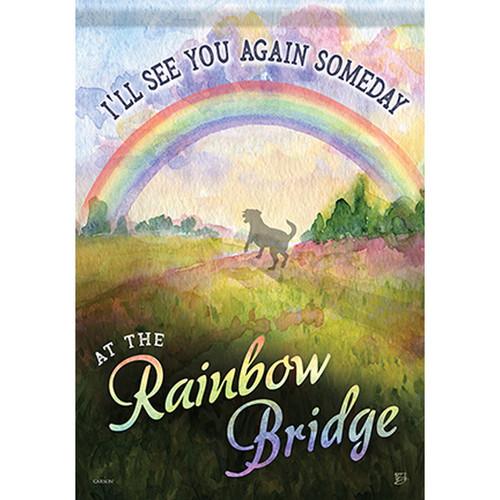 Pet Memorial Garden Flag - Rainbow Bridge Dog