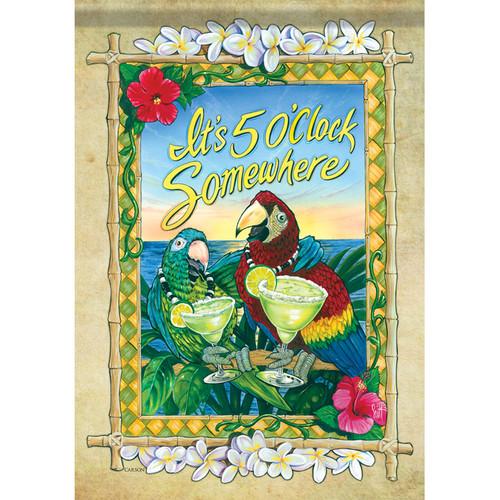 Carson Summer Garden Flag - 5 o'clock Parrots