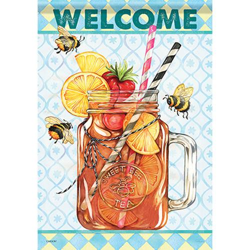 Carson Summer Garden Flag - Sweet Tea Bee