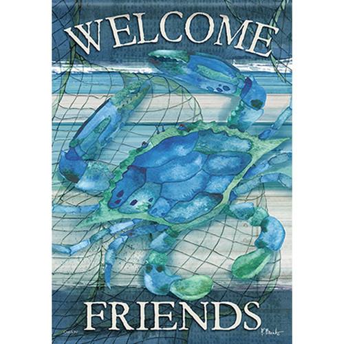 Carson Summer Banner Flag - Blue Crab