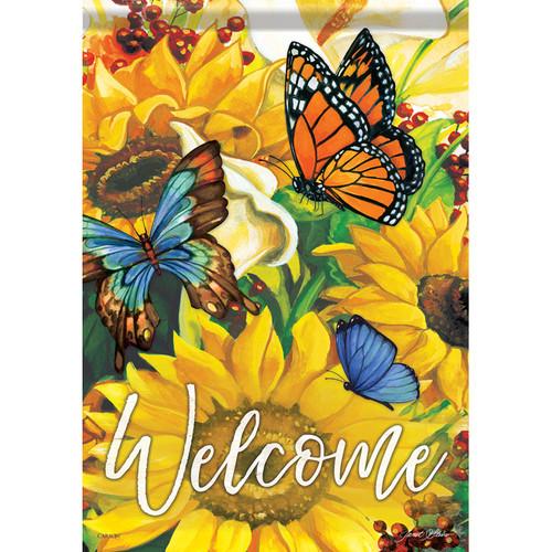 Carson Summer Garden Flag - Bright Sunny Welcome