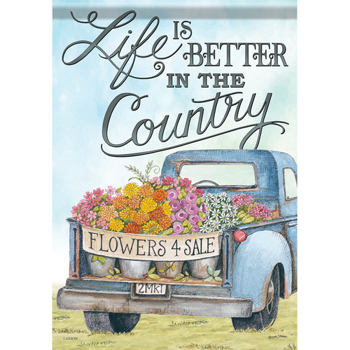 Carson Summer Garden Flag - Life is Better in the Country
