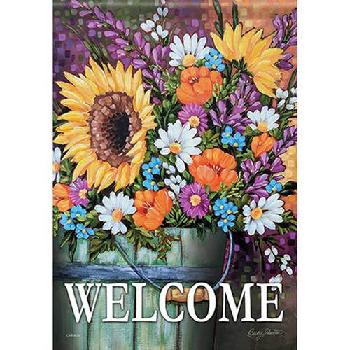 Carson Summer Banner Flag - Wildflower Bucket