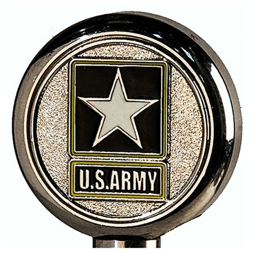 Motorcycle Flag Pole Decorative Topper - Army Logo