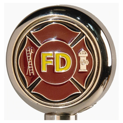Motorcycle Flag Pole Decorative Topper - Fire Dept