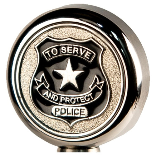 Motorcycle Flag Pole Decorative Topper - Police