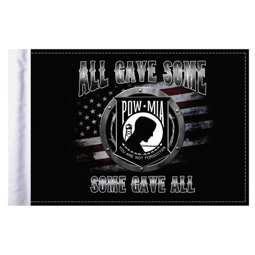 """All Gave Some POW Motorcycle Flag - 6"""" x 9"""""""