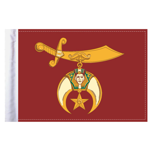 """Shriners Motorcycle Flag - 6"""" x 9"""""""