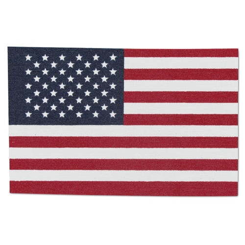 """American Flag 8"""" x 12"""" Cut - No Fray  Fabric, Pack of 12"""