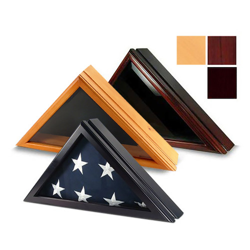 Harrison Folded Flag Display Case for 3' x 5' Flag - Imported