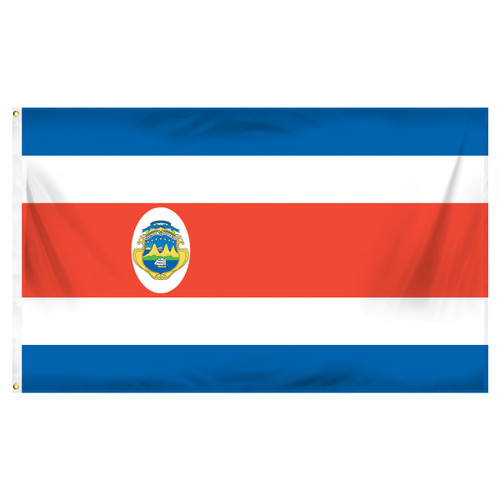 Costa Rica 3' x 5' Poly Flag With Seal