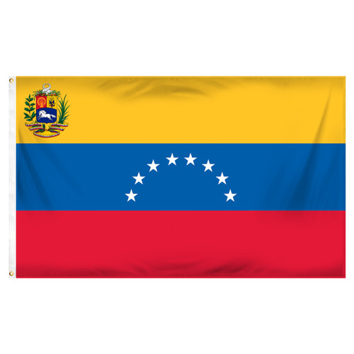 Venezuela 3' x 5' Poly Flag With Seal