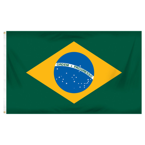 3ft x 5ft Brazil Flag - Printed Polyester