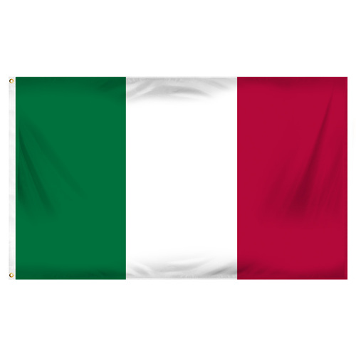 3ft x 5ft Italy Flag - Printed Polyester
