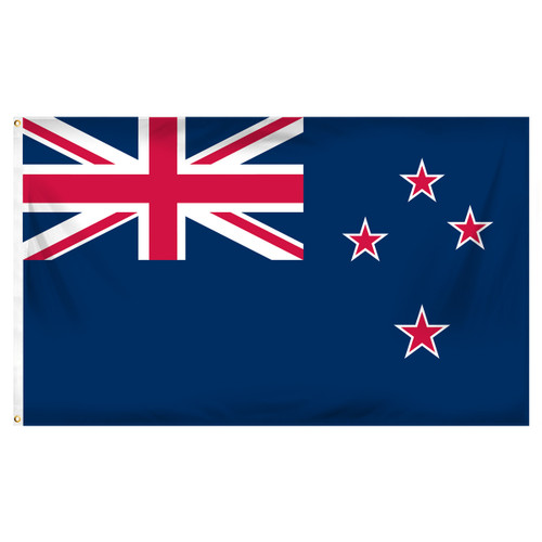 3ft x 5ft New Zealand Flag - Printed Polyester