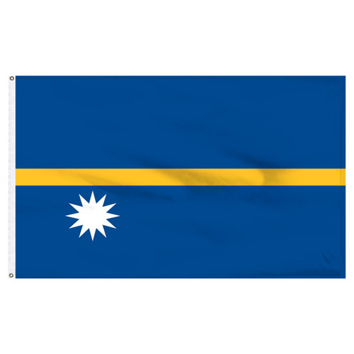 Nauru 4' x 6' Nylon Flag