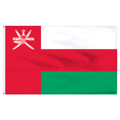 Oman 4' x 6' Nylon Flag