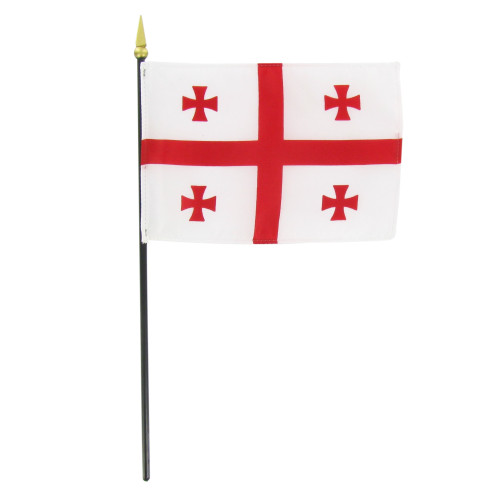 "Georgia Republic 4"" x 6"" Stick Flag"