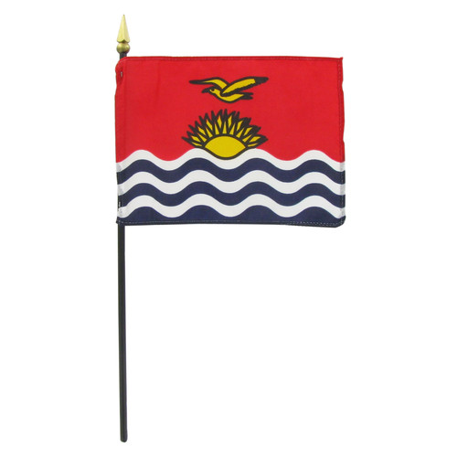 "Kiribati 4"" x 6"" Stick Flag"