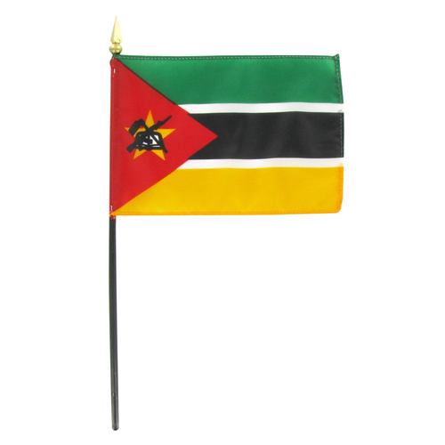 "Mozambique 4"" x 6"" Stick Flag"
