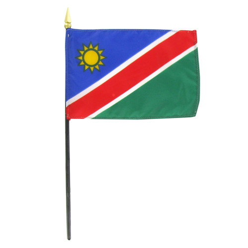 "Namibia 4"" x 6"" Stick Flag"