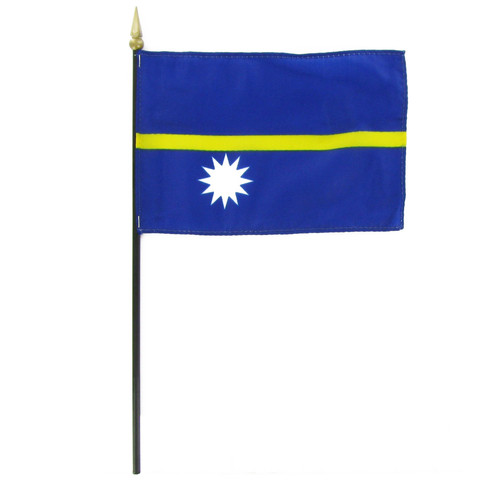 "Nauru 4"" x 6"" Stick Flag"