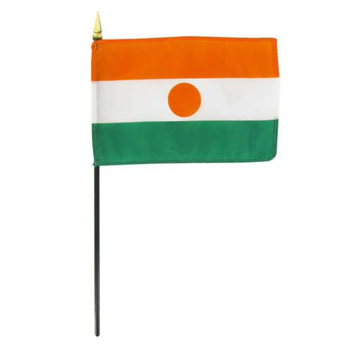 "Niger 4"" x 6"" Stick Flag"