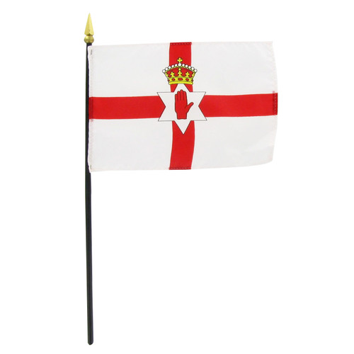 "Northern Ireland 4"" x 6"" Stick Flag"