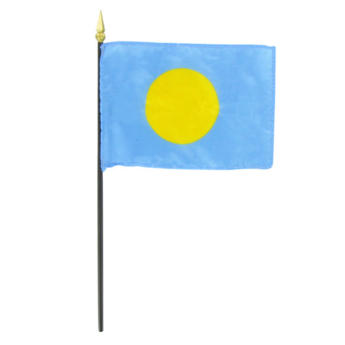 "Palau 4"" x 6"" Stick Flag"