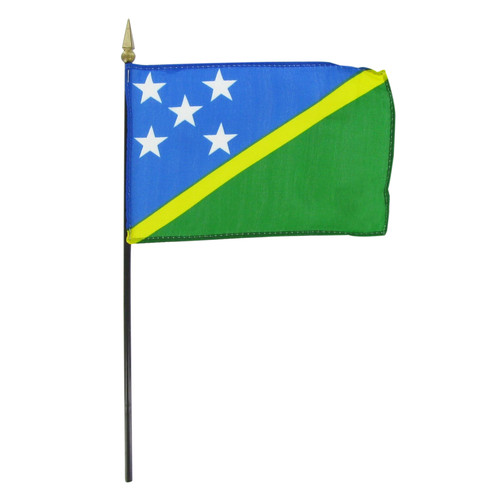 "Solomon Islands 4"" x 6"" Stick Flag"