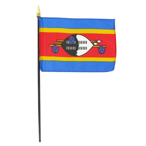 "Swaziland 4"" x 6"" Stick Flag"
