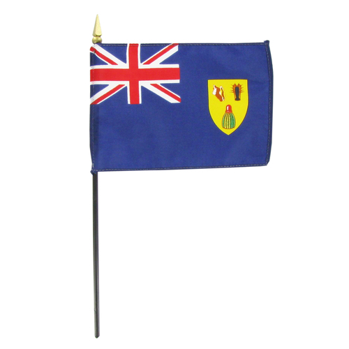 Turks and Caicos 4in x 6in Stick Flag