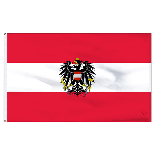 Austria 5' x 8' Nylon Flag With Eagle