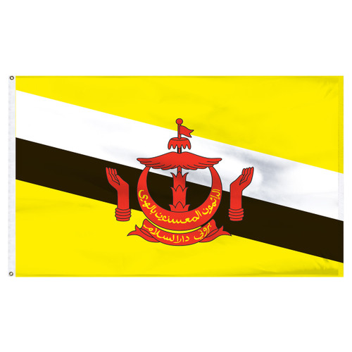 Brunei 5' x 8' Nylon Flag