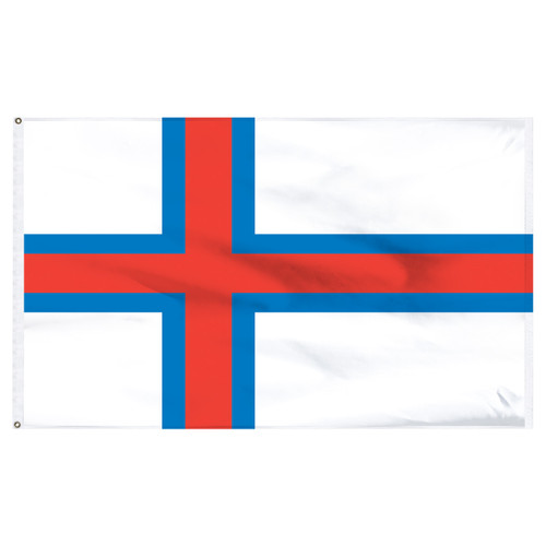 Faroe Islands 5' x 8' Nylon Flag