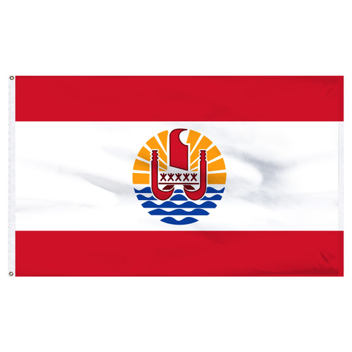 French Polynesia 5' x 8' Nylon Flag