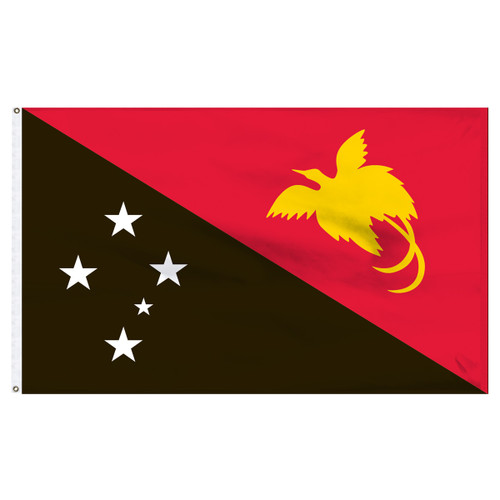 Papua New Guinea 5' x 8' Nylon Flag